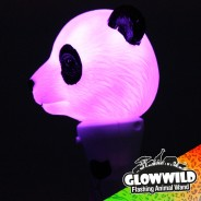"Panda Mini Light Up Animal Wand 7"" 5"