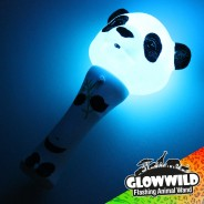 "Panda Mini Light Up Animal Wand 7"" 4"