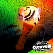 "Tiger Mini Light Up Animal Wand 7"" 2"