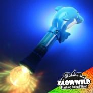 """Dolphin Mega Flashing Animal Wand 11"""" Wholesale 6"""