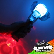 "Elephant Mega Flashing Animal Wand 11"" Wholesale 10"