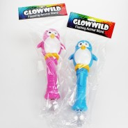 "Penguin Mega Flashing Animal Wand 11"" Wholesale 11"