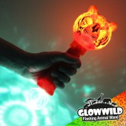 "Tiger Mega Flashing Animal Wand 11"" Wholesale 3"