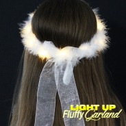 LED Fluffy Garland with Ribbon Wholesale 3
