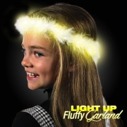 LED Fluffy Garland with Ribbon Wholesale 4