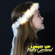 LED Fluffy Garland with Ribbon 2