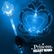 Large Light Up Princess Heart Wand 2 Blue
