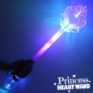 Large Light Up Princess Heart Wand 3