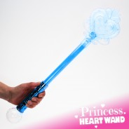 Large Light Up Princess Heart Wand 13 Blue