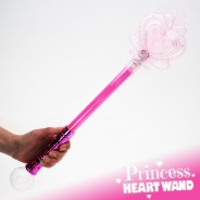 Large Light Up Princess Heart Wand 12 Pink