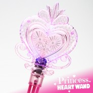 Large Light Up Princess Heart Wand 10 Pink