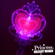 Large Light Up Princess Heart Wand 4
