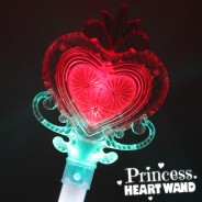 Large Light Up Princess Heart Wand 7