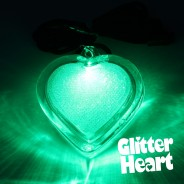Light Up Glitter Heart Necklace 4