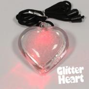 Light Up Glitter Heart Necklace 6