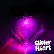 Light Up Glitter Heart Necklace 3