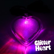 Flashing Glitter Heart Necklaces Wholesale 5