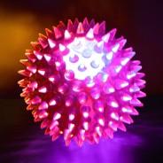 Small Flashing Spikey Ball: 6.5cm 6