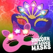 Light Up Felt Masks - Unicorn & Peacock 2