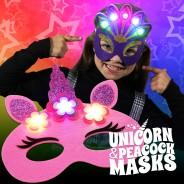 Flashing Felt Masks Wholesale - Unicorn & Peacock  1