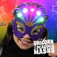 Light Up Felt Masks - Unicorn & Peacock 3