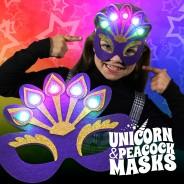 Light Up Felt Masks - Unicorn & Peacock 5