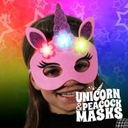 Flashing Felt Masks Wholesale - Unicorn & Peacock  4