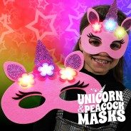 Light Up Felt Masks - Unicorn & Peacock 6