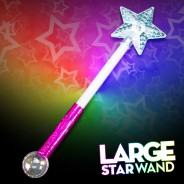 Large Flashing Star Wand Wholesale 6