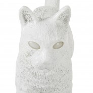 Seletti Jobby Cat Rechargeable Lamp 17 White Cat
