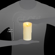 18cm Flickabright Wax Drip Candle 2