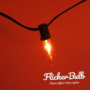 10 Flicker Bulb Fairy Lights - Connectable 10