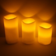 Flickering Flame Candles (3 Pack) 1