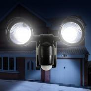 Motion Sensor Twin LED Floodlight - Battery Operated 1