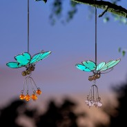 Flutter Glow Springy Pendant 4 Glow Butterflies (single pendant supplied)