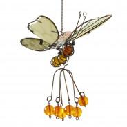 Flutter Glow Springy Pendant 6 Orange Butterfly