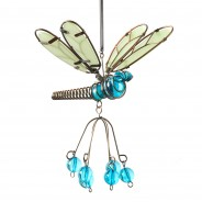 Flutter Glow Springy Pendant 8 Blue Dragonfly