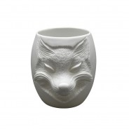 Fox Face Porcelain Tealight Holder 2