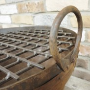 Genuine Indian Iron Kadai Fire Pit 60cm with BBQ Grill 2