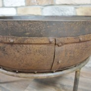 Genuine Indian Iron Kadai Fire Pit 60cm with BBQ Grill 5