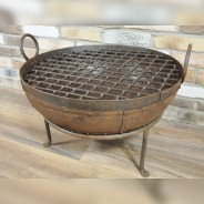 Genuine Indian Iron Kadai Fire Pit 60cm with BBQ Grill 3
