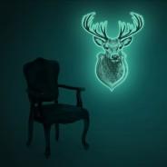 Giant Glow Deer Trophy Sticker 1