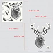 Giant Glow Deer Trophy Sticker 3