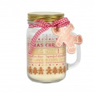Gingerbread Scented Mason Jar Candle 1