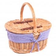 Kids Gingham Picnic Basket 1
