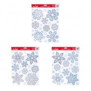 Glitter Snowflake Window Sticker 1 Single sheet of sticker supplied