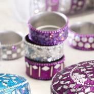 Glitter Tealight Holders (6 pack)  1