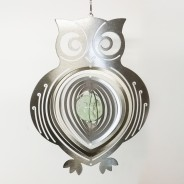 Glow Ball Silver Owl Wind Spinner 1