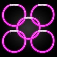 Pink glow bracelets
