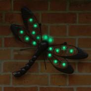 Glow Dragonfly Wall Art 2
